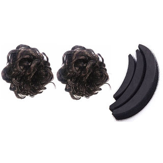 GaDinStylo  Combo of  Black Rubber Juda   3Pcs Banana Hair Puff Maker