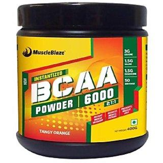 MuscleBlaze BCAA 6000  400g (50 Servings) Tangy Orange