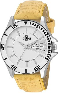 Cloxa Analog Official White Dial Mens watch