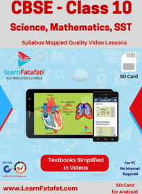 CBSE Class 10 Science, Mathematics and SST Full Video Lessons SD Card