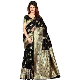 Fabrica Shoppers New Designer banarsi silk black  saree