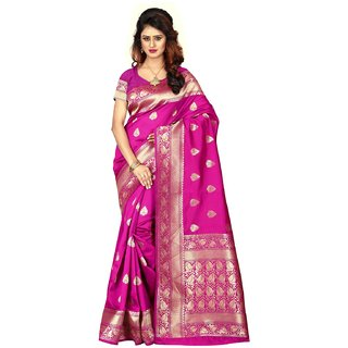 Fabrica Shoppers New Designer banarsi silk pink  saree