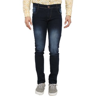 Spain Style Men's Slim Fit Black Jeans