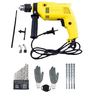 Buildskill - Impact 500W 13mm Corded Drill Kit