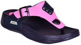 ADDA COMFORTABLE NAVY/ PINK COLOR FLIPFLOPS FOR WOMEN