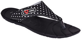 Adda Comfortable Black Color Flipflops For Women