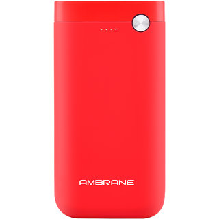 Ambrane PP-11 10000mAh Lithium Polymer Power Bank (Red)