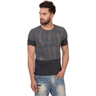Pause Multi Stripe Cotton Round Neck Slim Fit Short Sleeve Men'S T-Shirt