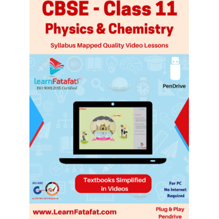 CBSE Class 11 Physics and Chemistry Complete Video Course Pendrive