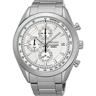 Seiko Analogue Silver Dial Mens Watch (Ssb173P1)