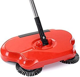 Sweep Drag All-in-One Household Hand Push Rotating Sweeping Broom, Room and Office Floor Sweeper Cleaner Dust Mop Set (M