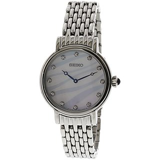 Seiko Analog Mother of Pearl Dial Womens Watch - SFQ807P1