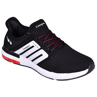 CAMPUS BLACK COLOR COMFORTABLE RUNNING / LIFESTYLE SPORTS SHOES FOR MEN
