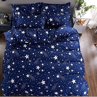 Choco Creation Multicolor Cotton Abstract Double Bedsheet With 2 Pillow Covers (229 x 254 cm) - Set Of 1