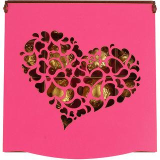 Pink heart cutout box