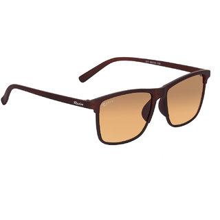 Redex Brown Rectangular UV Protection Unisex Sunglasses ( 1384 )