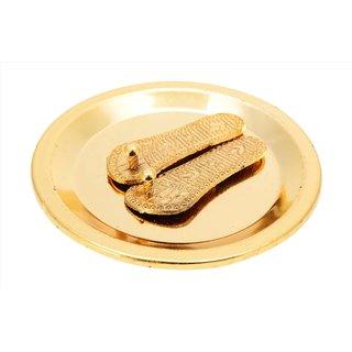 Gold Plated Lakshmicharan Paduka