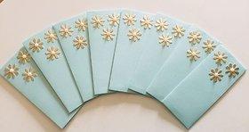 Designer Handmade Flower Design Shagun Envelope, Set of 8