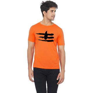 Orange color half sleeve shiva mahadev printed tshirt