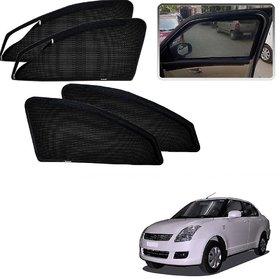 Auto Addict Zipper Magnetic Sun Shades Car Curtain For Maruti Suzuki Swift Dzire Old (2008-2012)