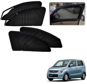 Auto Addict Zipper Magnetic Sun Shades Car Curtain For Maruti Suzuki New WagonR (2010-Present)