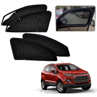 Auto Addict Zipper Magnetic Sun Shades Car Curtain For Ford Ecosport