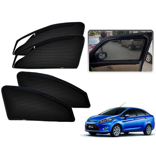 Auto Addict Zipper Magnetic Sun Shades Car Curtain For Ford New Fiesta