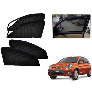 Auto Addict Zipper Magnetic Sun Shades Car Curtain For Ford Old Figo