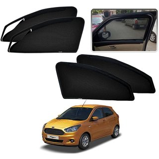 Auto Addict Zipper Magnetic Sun Shades Car Curtain For Ford New Figo