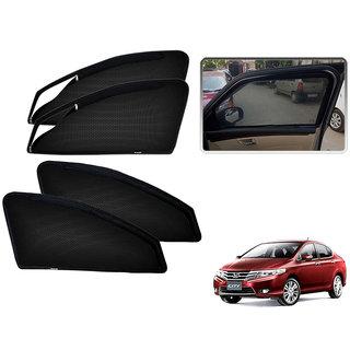 Auto Addict Zipper Magnetic Sun Shades Car Curtain For Honda City Ivtec(2014-Present)