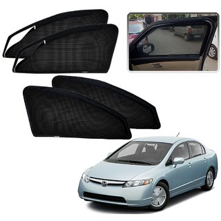 Auto Addict Zipper Magnetic Sun Shades Car Curtain For Honda Civic