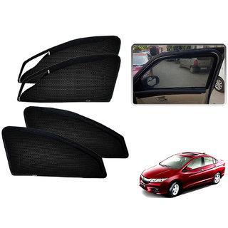 Auto Addict Zipper Magnetic Sun Shades Car Curtain For Honda Idtec New City (2014-Present)