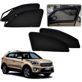 Auto Addict Zipper Magnetic Sun Shades Car Curtain For Hyundai Creta