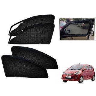 Auto Addict Zipper Magnetic Sun Shades Car Curtain For Hyundai Eon