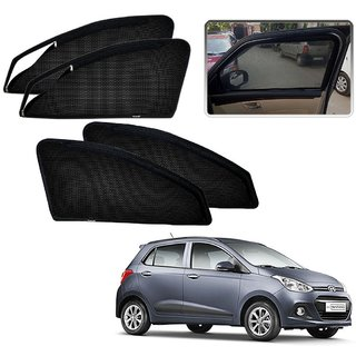 Auto Addict Zipper Magnetic Sun Shades Car Curtain For Hyundai I10 Grand
