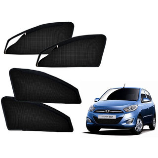 Auto Addict Zipper Magnetic Sun Shades Car Curtain For Hyundai I10