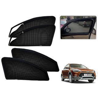 Auto Addict Zipper Magnetic Sun Shades Car Curtain For Hyundai I20 Active