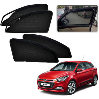 Auto Addict Zipper Magnetic Sun Shades Car Curtain For Hyundai I20 Elite