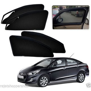 Auto Addict Zipper Magnetic Sun Shades Car Curtain For Hyundai Verna Fluidic