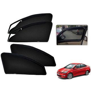 Auto Addict Zipper Magnetic Sun Shades Car Curtain For Hyundai Verna Fluidic 4S