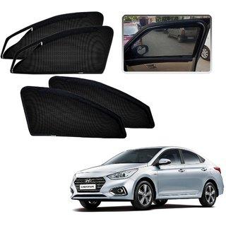 Auto Addict Zipper Magnetic Sun Shades Car Curtain For Hyundai Verna Nextgen (2017)