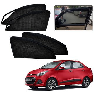 Auto Addict Zipper Magnetic Sun Shades Car Curtain For Hyundai Xcent