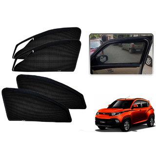 Auto Addict Zipper Magnetic Sun Shades Car Curtain For Mahindra KUV 100