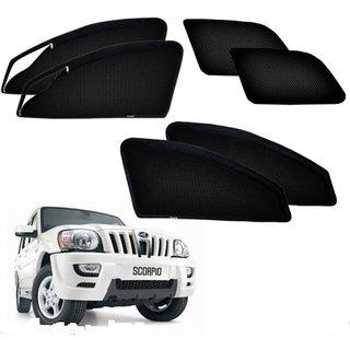 Auto Addict Zipper Magnetic Sun Shades Car Curtain For Mahindra Scorpio