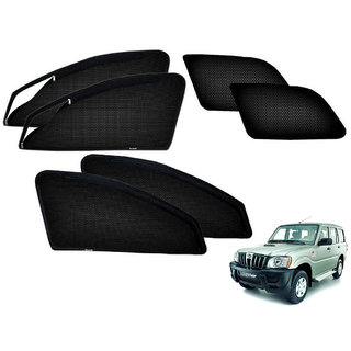 Auto Addict Zipper Magnetic Sun Shades Car Curtain For Mahindra Scorpio Old
