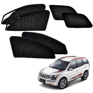 Auto Addict Zipper Magnetic Sun Shades Car Curtain For Mahindra XUV 500