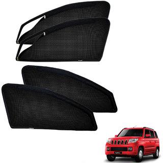Auto Addict Zipper Magnetic Sun Shades Car Curtain For Mahindra TUV 300