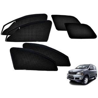 Auto Addict Zipper Magnetic Sun Shades Car Curtain For Mahindra Xylo