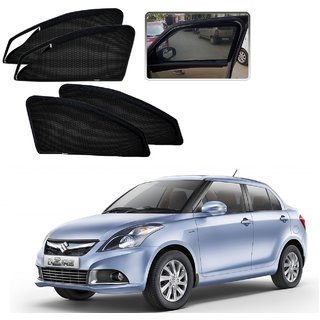 Auto Addict Zipper Magnetic Sun Shades Car Curtain For Maruti Suzuki Dzire Type-2(2012-2017)
