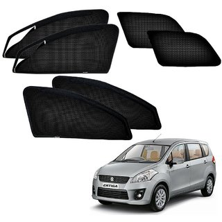 Auto Addict Zipper Magnetic Sun Shades Car Curtain For Maruti Suzuki Old Ertiga